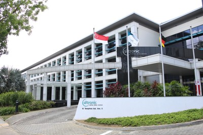 Siltronic site in the Tampines Industrial Park in Singapore